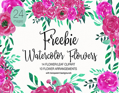 FREE | Watercolor Flowers Clipart