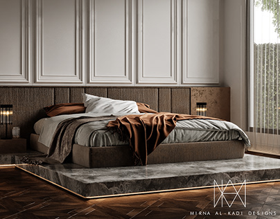 """Neoclassic Master Bedroom- """"Accents"""", Kuwait"""