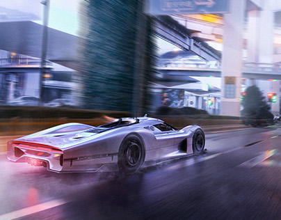 Porsche 908-04 Vision GT and fivesphere in Shanghai