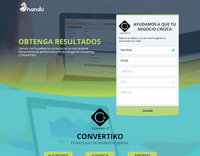 Ñandu Consulting Landing Page