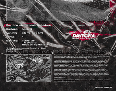 Daytona Intl Speedway   Brutalism Poster