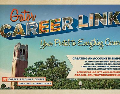 UF Career Resource Center Gator CareerLink Postcard