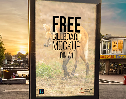 Free Billboard Mock-Up A1