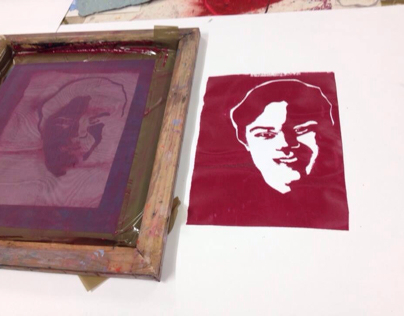 Print making and spray painting