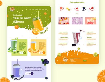 Juice bar web user interface
