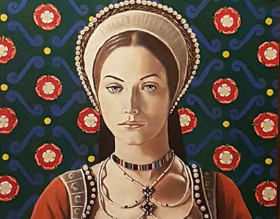 Catherine Howard - oil on panel 52x42 cms