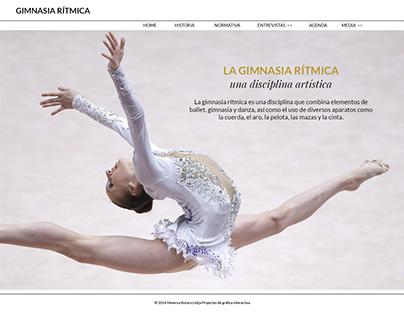 Web HTML/CSS La Gimnasia rítmica