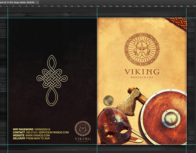 Viking Theme Menu Template
