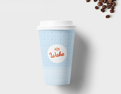 Wake Coffee branding