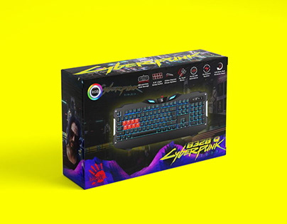 Cyberpunk Gaming Keyboard
