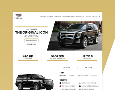 Cadillac Landing Page Redesign