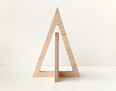 Wooden miniature minimal Christmas tree