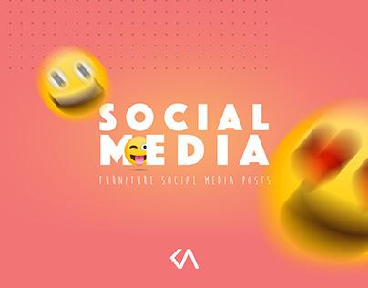 FURNITURE SOCIAL MEDIA POST DESIGNS