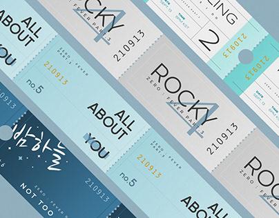 ATEEZ ZERO : FEVER Part.3—Ticket Designs