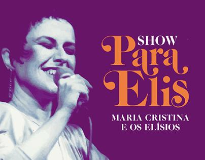 Cartaz do Show Para Elis
