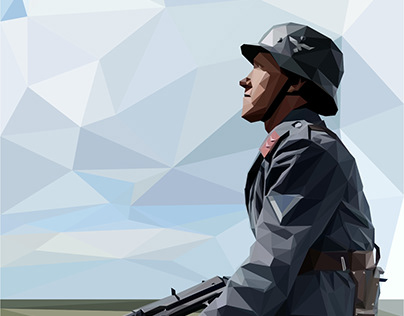 Luftwaffe Soldier lowpoly