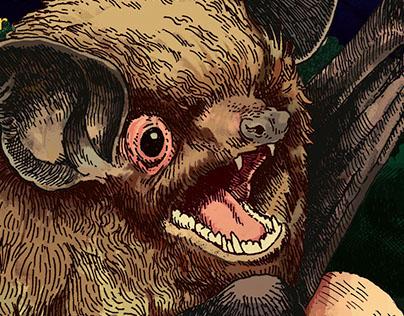 Educational Nature Poster: Indiana Bat