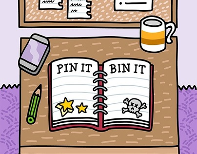 Pin It or Bin It app for iOS/Android
