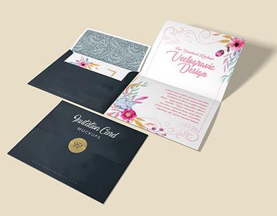 A2 Invitation Envelope Mockups
