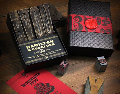 Hamilton Woodblock Type Chocolates
