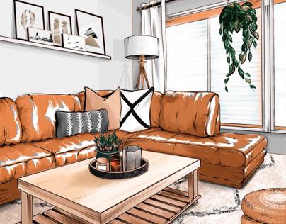 Интерьерный скетч | Interior sketch