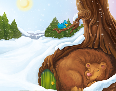 Winter tale #3 - coloring book for children