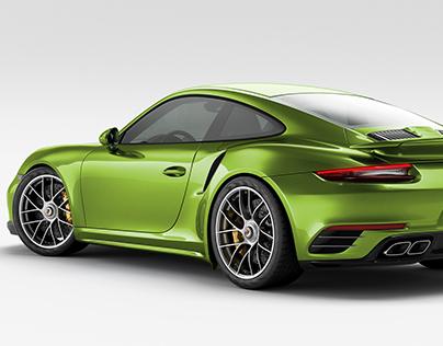 Porsche 911 Turbo S - Studio Rendering CGI