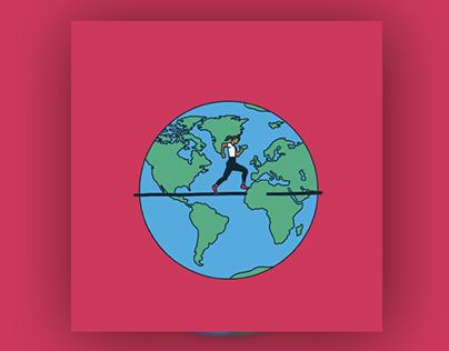 Run For Heroes • Run around the world • Motion Graphics