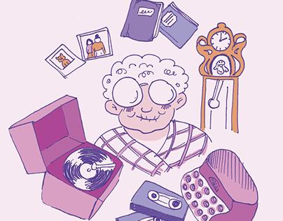 Illustrations sur la nostalgie