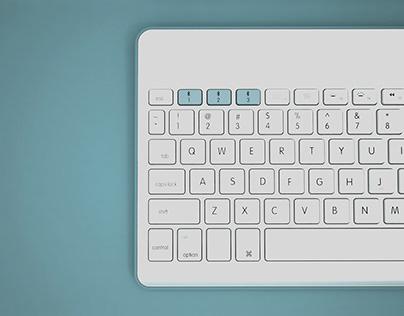 Wireless Keyboard Design- SILVER HIT