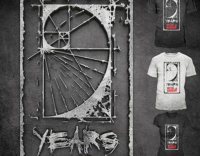 9 Years Metal Hangar 18 Tee (2016)