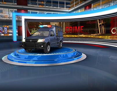 9PM Bulletin Virtual Set