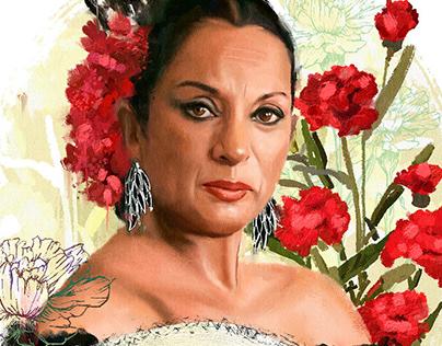 Lola Flores, retrato