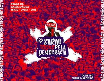 Cartaz Sarau Todxs Pela Democracia