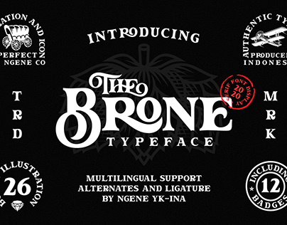 The Brone Typeface