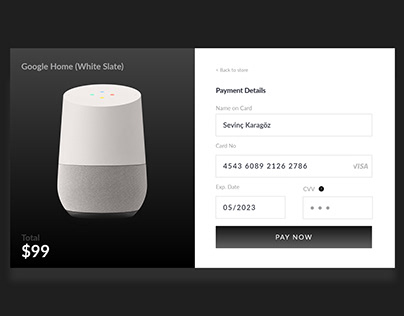 Credit Card Checkout - Google Home