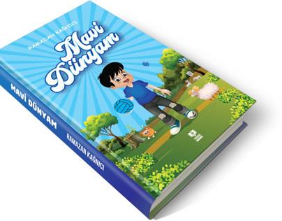 Mavi Dünyam Kitap kapağı tasarımı