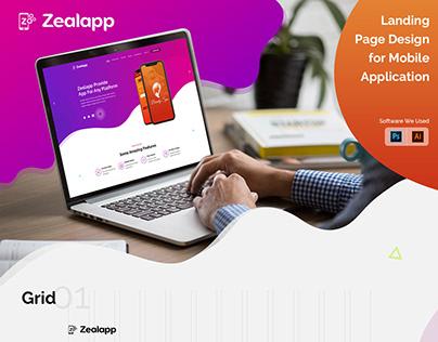 Zeal App Landingpage