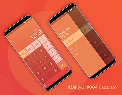 Daily UI: 004 - Mobile Calculator