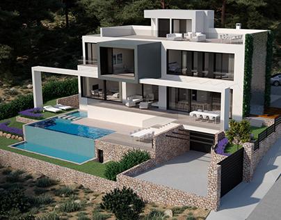 Port d'Andratx Villa project | 3de.studio