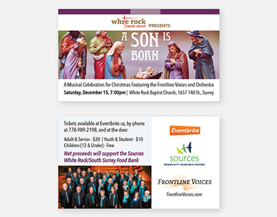 Frontline Voices 2018 Christmas Concert Collateral