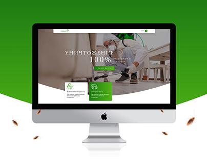 Дизайн сайта для компании по уничтожению вредителей