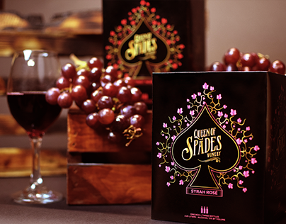 """""""Queen of Spades"""" Boxed Wine Packaging"""