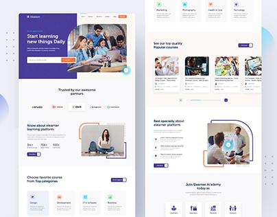 Elearner | Online learning - Landing page Exploration