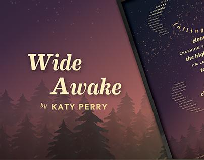 Wide Awake Typography Lyric Poster