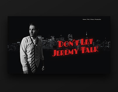 Don't Let Jeremy Talk - Movie website & poster