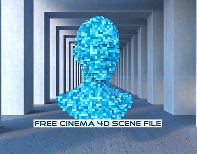 Simple Voxelizer | Fully Rigged Free Cinema 4D Scene