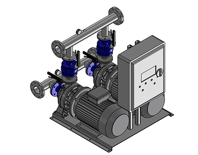 3D CAD Drawing & Model of Water Pump