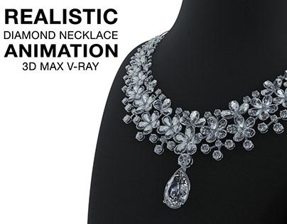 JEWELRY ANIMATION- DIAMOND NECKLACE ANIMATION 3Ds MAX,