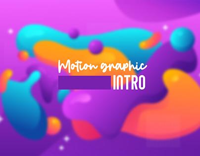 Motion graphic intro